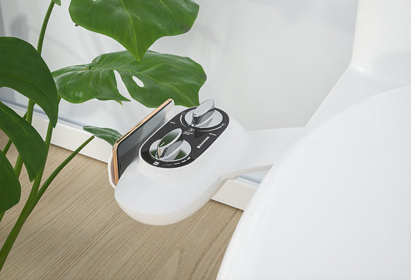 SANIWISE Bidet Attachment A200 Black for 2021 Fresh Water Less Toilet Paper for Your Existing Seat