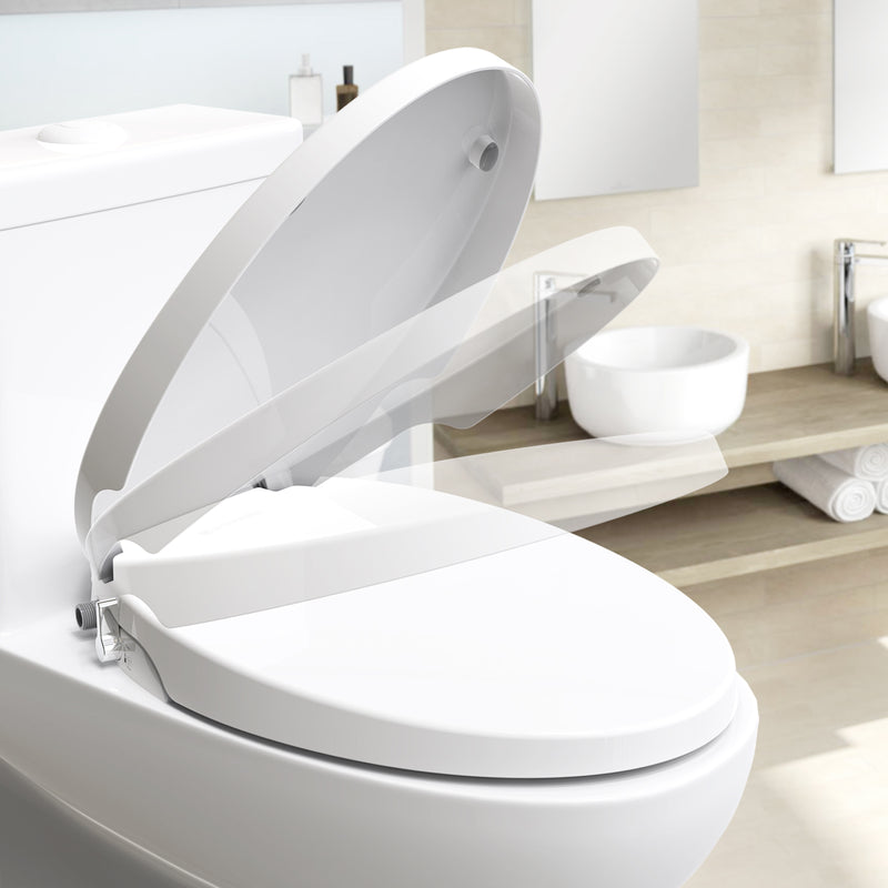 SANIWISE Bidet Toilet Seat F6 for Elongated Toilets