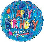 Happy Birthday to You Mylar Balloon