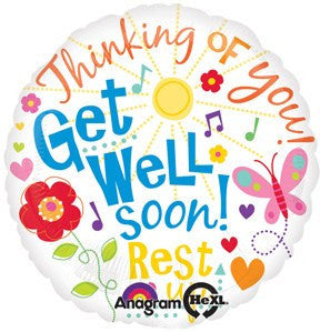 Get Well Messages Mylar Balloon