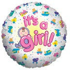 It's a Girl Mylar Balloon