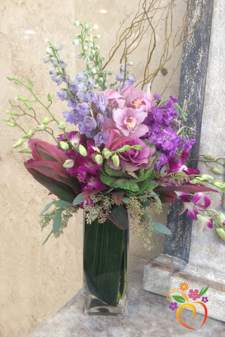 50 Shades of Lavender Bouquet - Local Delivery Only