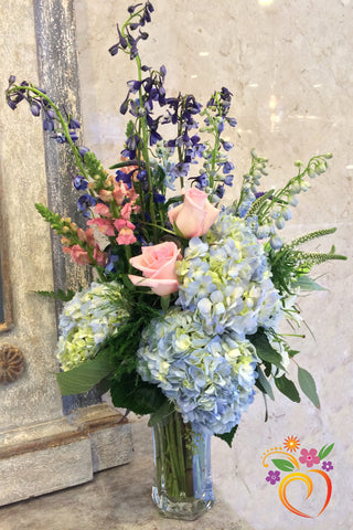 Pink & Blue Bouquet