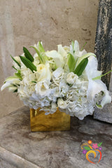 White Gold Bouquet - Local Delivery Only