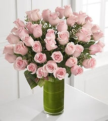 Delighted Luxury Pink Rose Bouquet - 48 Stems of 24-inch Premium Pink Roses