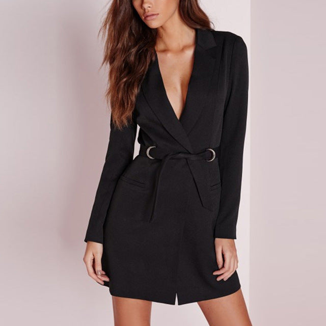 | V Neck Blazer Dress |