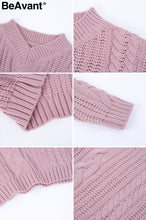 | Autumn winter knitted pullover |