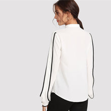 | Elegant White Black Top |