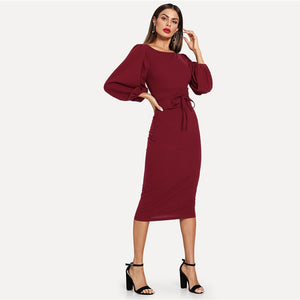 | Burgundy Elegant Dress |