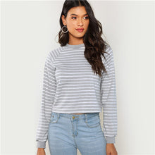 | Grey Minimalist Preppy Crop |