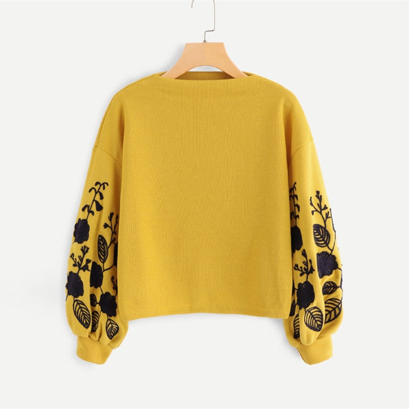 | Yellow of Fashion Sweater |