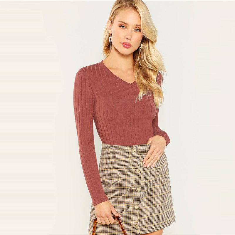 | Casual Ribbed Knit |