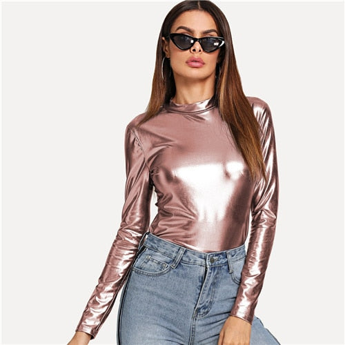 | Pink Metallic Top |