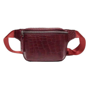 | Croko Print Belly Bag |