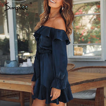 | Off Shoulder Satin Dress |