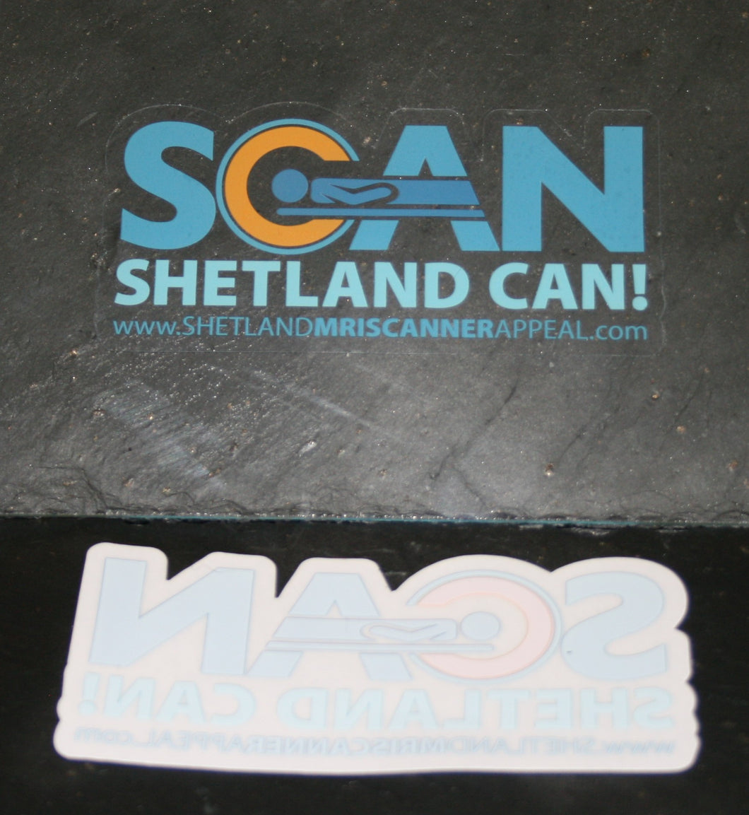 Shetland MRI Window Sticker