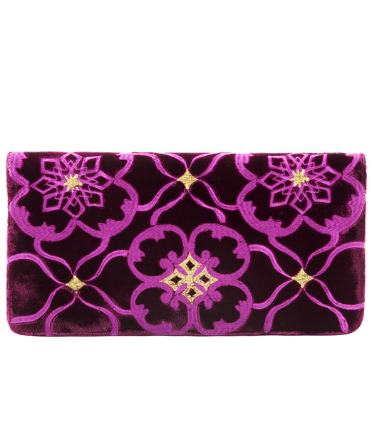 Fortuna Clutch in Wine