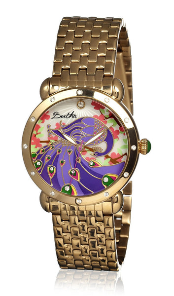 Bertha Didi Gold/Multicolor Stainless Steel Watch