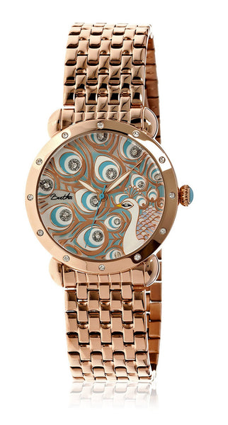 Bertha Genevieve Rose Gold/Multi Stainless Steel Watch