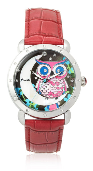 Bertha Ashley Red/Multi Stainless Steel Watch