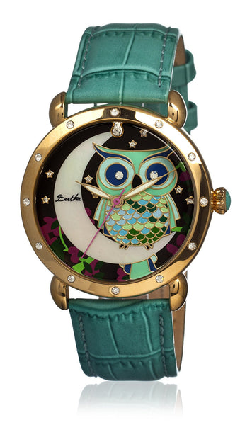 Bertha Ashley Turquoise/Multi Leather Watch