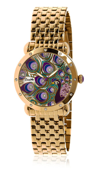 Bertha Genevieve Gold/Multi Stainless Steel Watch