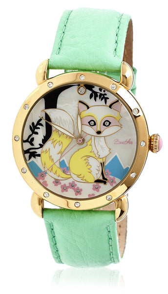 Bertha Vivica Green/Multi Leather Watch