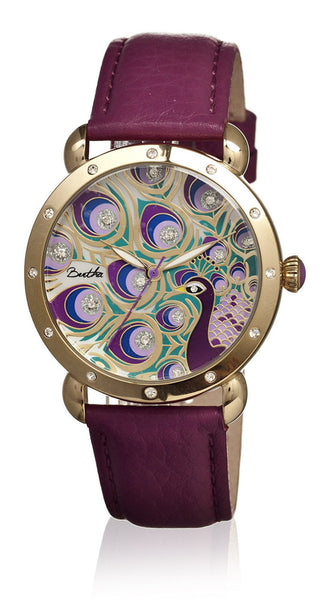 Bertha Genevieve Fushia/Multicolor Leather Watch