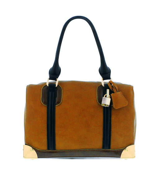 Ashley Satchel in Tan, by Melie Bianco