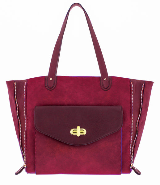 Carol Shoulder Bag in Berry, by Melie Bianco