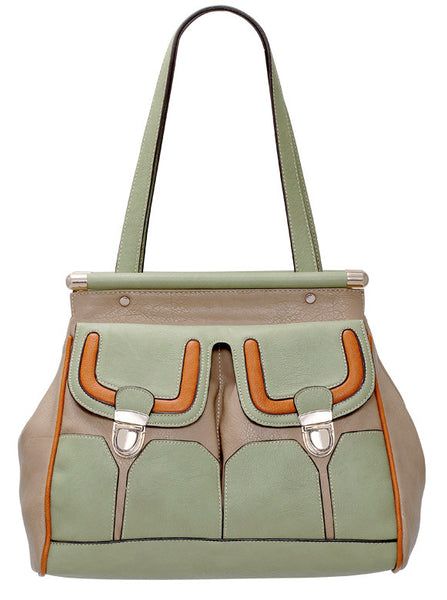 Julia Satchel in Mint, by Melie Bianco