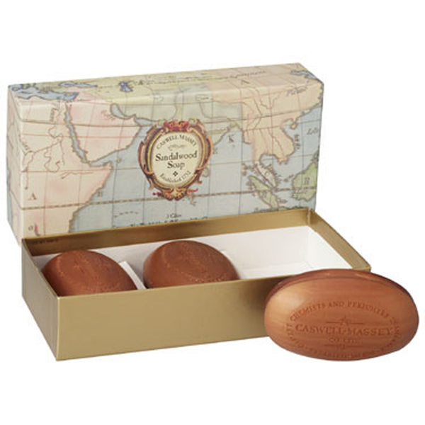 Woodgrain Sandalwood Soap by Caswell Massey (Box of Three)