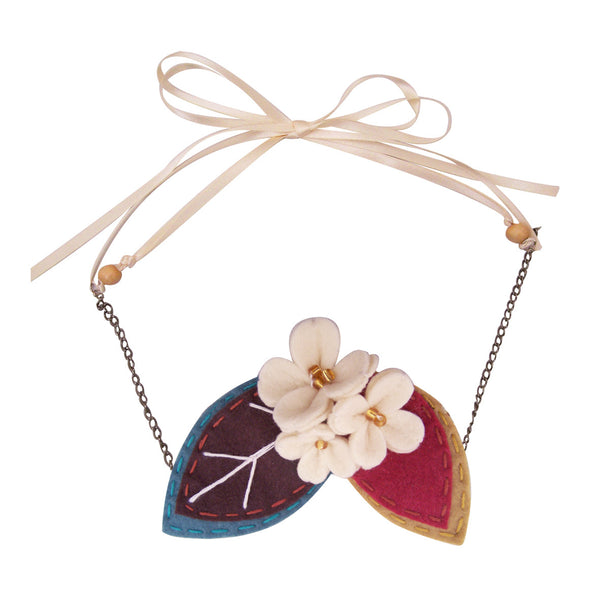 Beautiful Day Berry Blossom Necklace