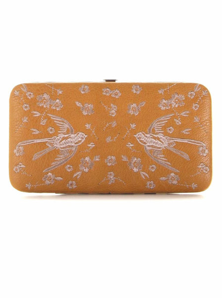 Cara Mustard Wallet by Darling London
