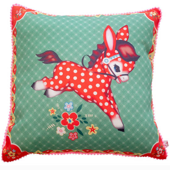 Pillow Cover - Polka Pony