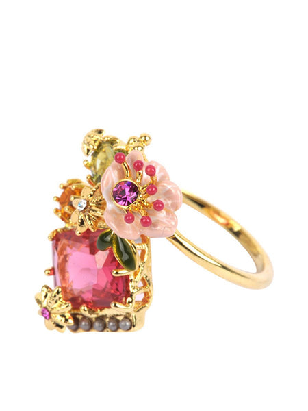 Dazzling discretion adjustable ring