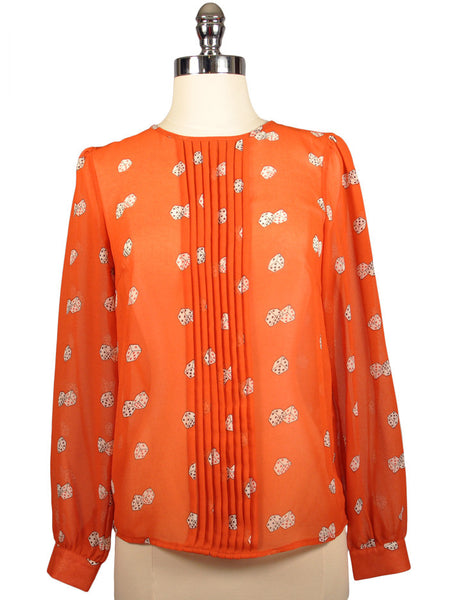 Lady Luck Blouse - Dark Coral by Sugarhill