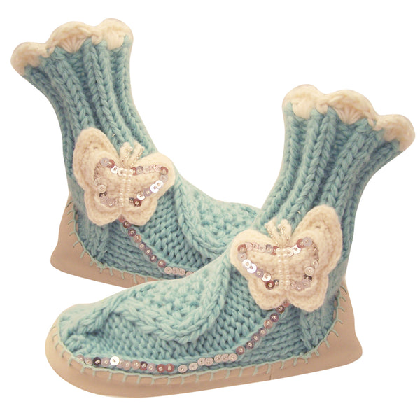 Knitted Butterfly Moccasins