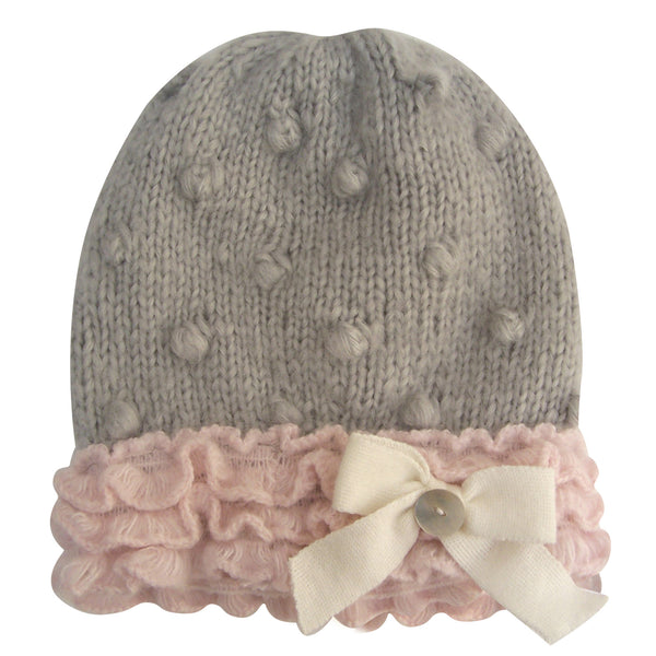Lady Grey Bobble Hat