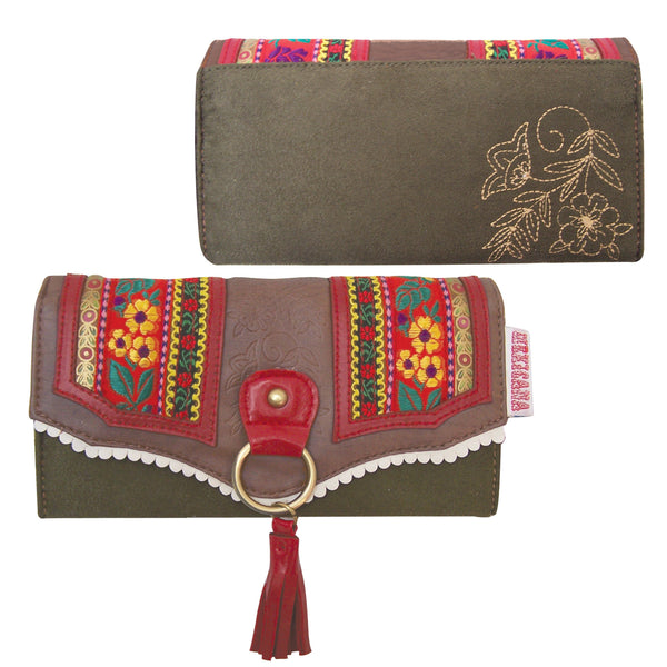 Floral Embroidery Wallet
