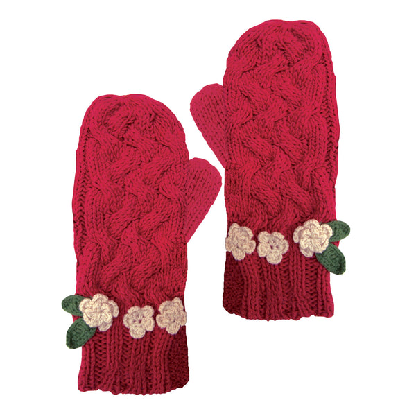 Rose Garden Red Mittens