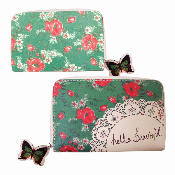 With Love Floral Coin Purse