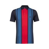 Mens Short Sleeve Plated Jersey Polo Shirt Gabicci Vintage - V45GX01 Navy