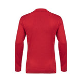Mens Patterned Long Sleeve Knitted Three Button Polo Top Gabicci Vintage - V45GM00 Lava