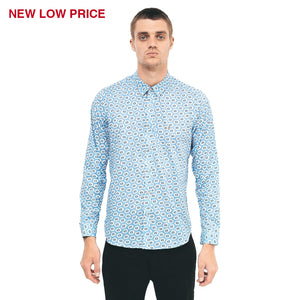 Mens Long Sleeve Woven Shirt Gabicci Vintage - V40GW06 Dawn