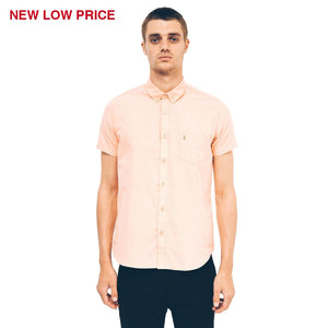 Mens Short Sleeve Oxford Shirt Gabicci Vintage - V40GW17S Flamingo