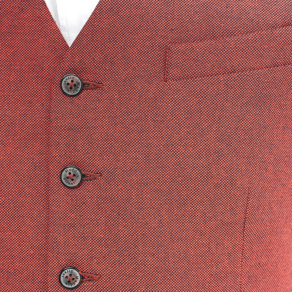 Mens Tailored Waistcoat Gabicci Maddox St London - M40MC10 Redcurrant