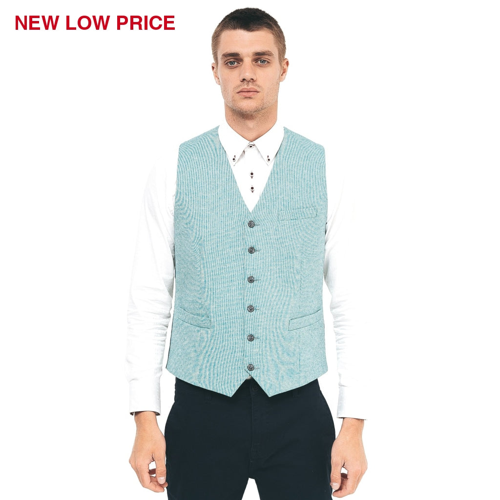 Mens Tailored Waistcoat Gabicci Maddox St London - M40MC10 Peacock