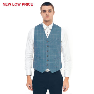 Mens Tailored Waistcoat Gabicci Maddox St London - M40MC07 Ocean