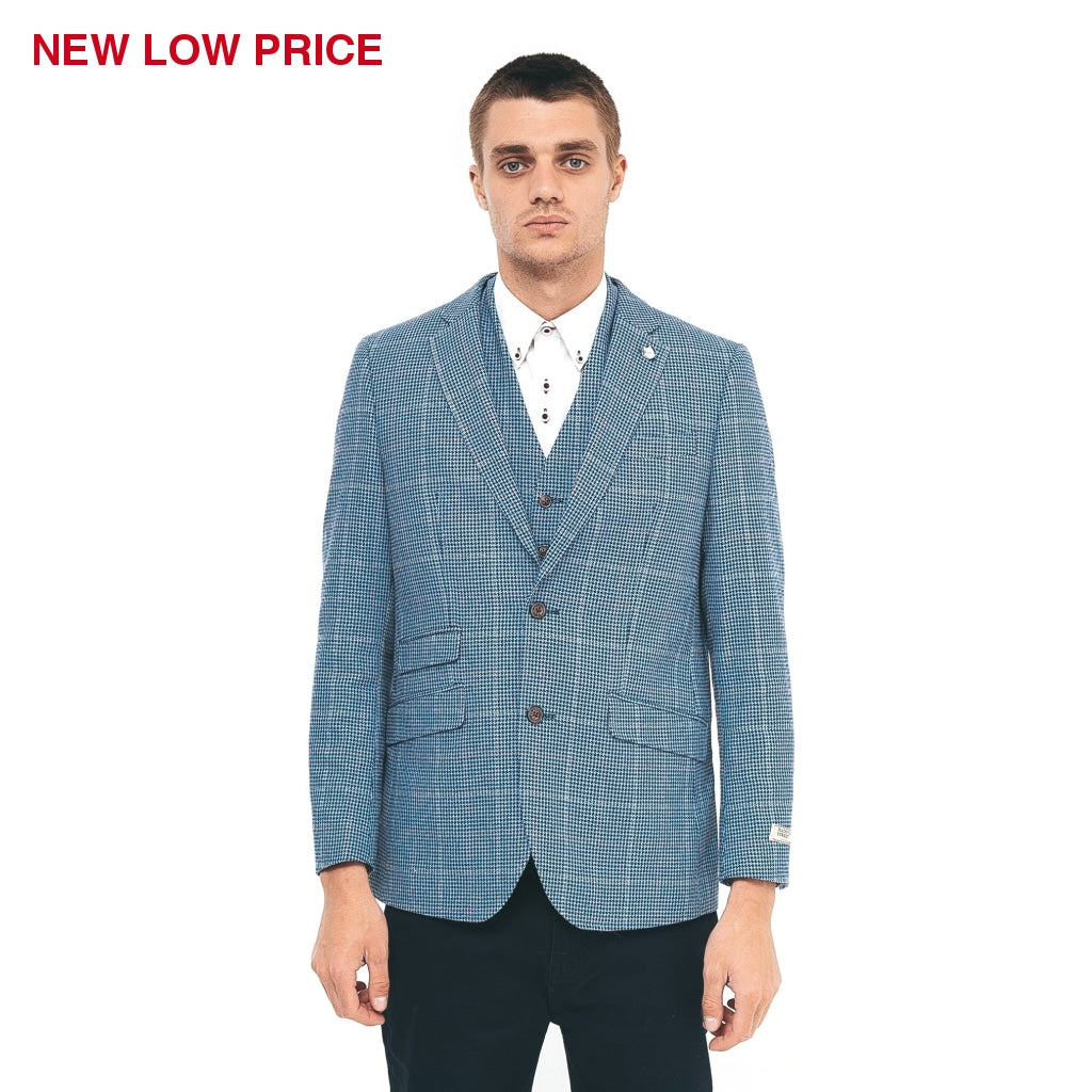 Mens Tailored Jacket Gabicci Maddox St London - M40MJ07 Ocean